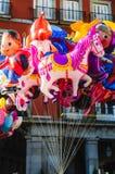 Ballonverkopers in Madrid Royalty-vrije Stock Foto