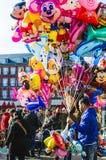Ballonverkopers in Madrid Royalty-vrije Stock Foto's