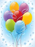 Balloon 02. Party balloons decoration ready for invitation card or poster Stock Photography