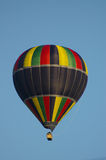 Balloon 02. A hot-air balloon in flight over Abergavenny in Wales Royalty Free Stock Image