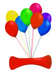 Balloon. Multicolor balloon in white background Stock Photo
