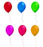 Balloon. Multicolor balloon in white background Royalty Free Stock Photos