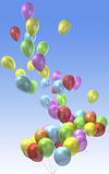 Balloon. 3d rendering of balloon flying up Royalty Free Stock Photo