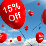 Balloon With 15% Off Showing Sale. Balloon With 15% Off Shows Sale Discount Of Fifteen Percent Stock Photography