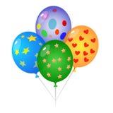 Balloon. 4 different color sweet ballon Stock Image