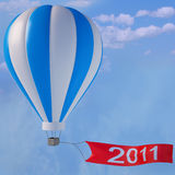 Balloon. With an advertising banner 2011 Stock Photography