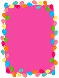Balloon. Colourful frame with balloon patterns Stock Photos