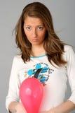 Balloon. Girl Olga, trial shooting in studio Stock Photo