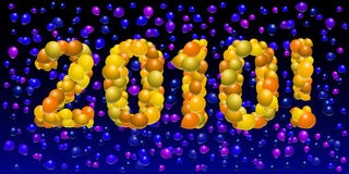 Balloon 2010 Royalty Free Stock Photos