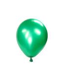 Balloon. Green inflated balloon, isolated on white background Royalty Free Stock Image