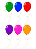 Balloon. No background illustration of colorful balloons Stock Photos
