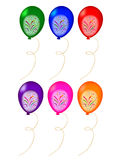 Balloon. Illustration of colorful balloons on white background Stock Photos