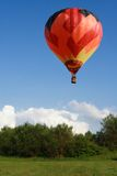 Balloon. Color hot air balloon on the sky with nature background Stock Images