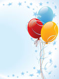 Balloon. Party balloons decoration ready for invitation or poster Stock Photos