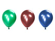 Balloon. Green inflated balloon, isolated on white background Royalty Free Stock Photography