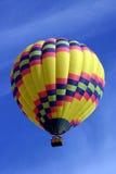 Balloon. A hot air balloon descends into the wine country of California Stock Photo