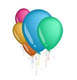 Balloon. On the white background Royalty Free Stock Images