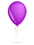 Balloon. Violet balloon on the white background Stock Image