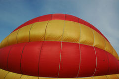 Balloon. A red and yellow colored hot balloon Stock Photo