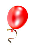 Balloon. The red balloon on a white background Stock Images