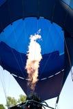 Balloon. Air balloon fire. Blue air balloon Royalty Free Stock Photos