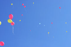Balloon. Fly to the sky Royalty Free Stock Photography