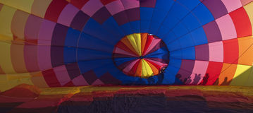 Balloon. Inflating colorful hot air balloon Royalty Free Stock Images