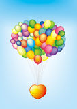 Balloon. S in the blue background Stock Photography
