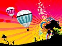Balloon abstract Royalty Free Stock Photos