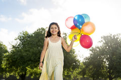 Balloon Activity Playing Recreation Funny Child Concept Stock Image