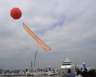 Balloon advertising Stock Photo