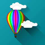 Balloon against the background of clouds Stock Photo
