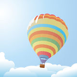 Balloon against the blue sky Royalty Free Stock Photos