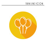 Balloon, air balloon icon. Party celebration, birthday, holidays, event, carnival festive. Thin line party element icon Stock Photography