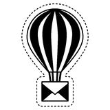 Balloon air hot with envelope. Illustration design Royalty Free Stock Images