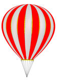 The balloon aircraft. Hot air balloon without a gondola basket Isolated. 3D Illustration Stock Image