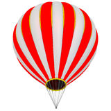 The balloon aircraft. Hot air balloon without a gondola basket. Isolated. 3D Illustration Stock Photos