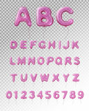 Balloon Alphabet Realistic Transparent Composition Royalty Free Stock Photography