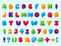 Balloon Alphabet Vector Character Set Illustration With Kids Style Toys Colorful Air Balls Isolated Birthday Stock Photography