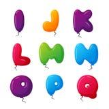 Balloon alphabet vector set. Royalty Free Stock Photography