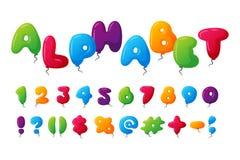 Balloon alphabet vector set. Stock Photography