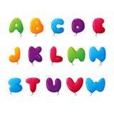 Balloon alphabet vector set. Royalty Free Stock Photos