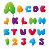 Balloon alphabet vector set. Stock Photos