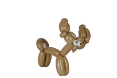 Balloon animal deer isolated on white Stock Images