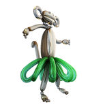 Balloon animal monkey isolated on white background. 3d illustration Royalty Free Stock Photography