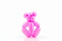 Balloon animal of pink bear. Royalty Free Stock Photos