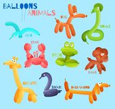 Balloon animals isolated Stock Images