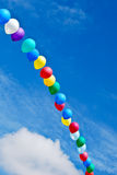 Balloon arc in the sky Stock Image