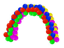 Balloon arch. Multicolor arch  balloon in white background Royalty Free Stock Photography