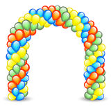 Balloon Arch. Colorful entrance decoration with balloon arch Royalty Free Stock Photography